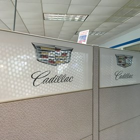 Myrtle Beach Chevrolet Cadillac Perforated Cadillac Window
