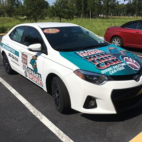 Sparks Toyota Giveaway Car Decal